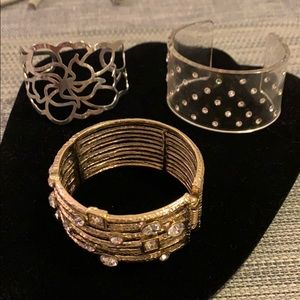 Lot of cuffs and bracelets